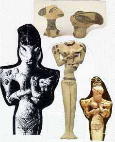 Ancient clay depictions of the Anunaki~